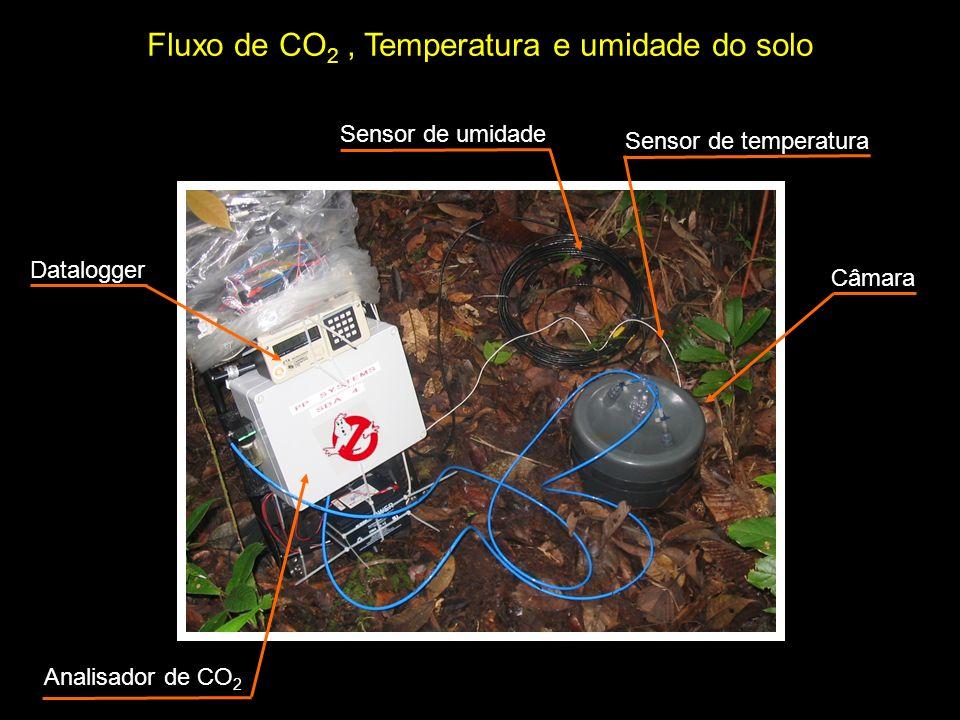 Fluxo de CO2 , Temperatura e umidade do solo