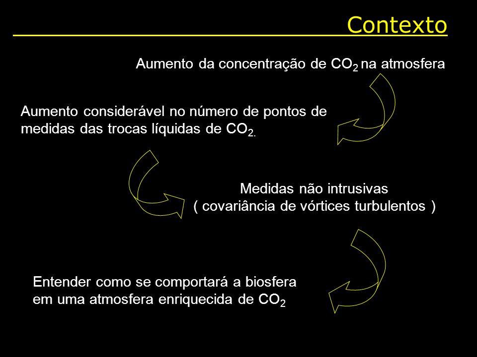 Contexto Aumento da concentração de CO2 na atmosfera
