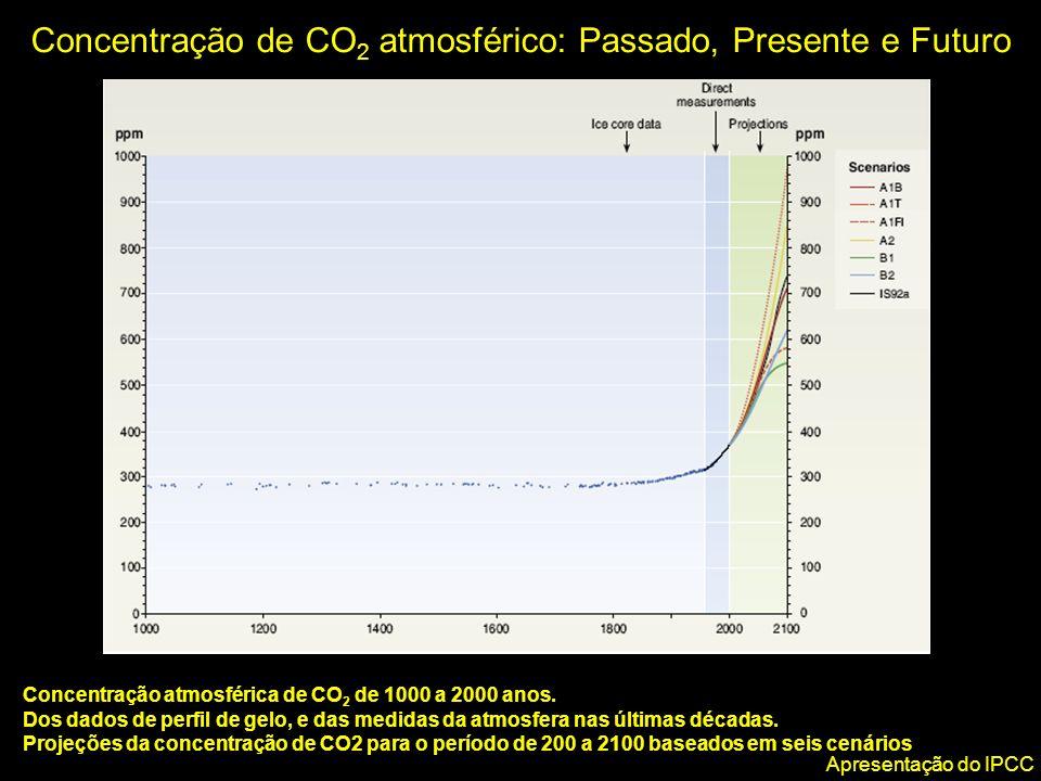 Concentração de CO2 atmosférico: Passado, Presente e Futuro