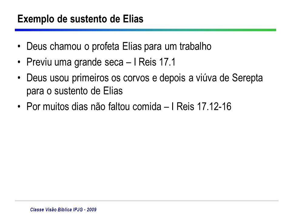 Exemplo de sustento de Elias