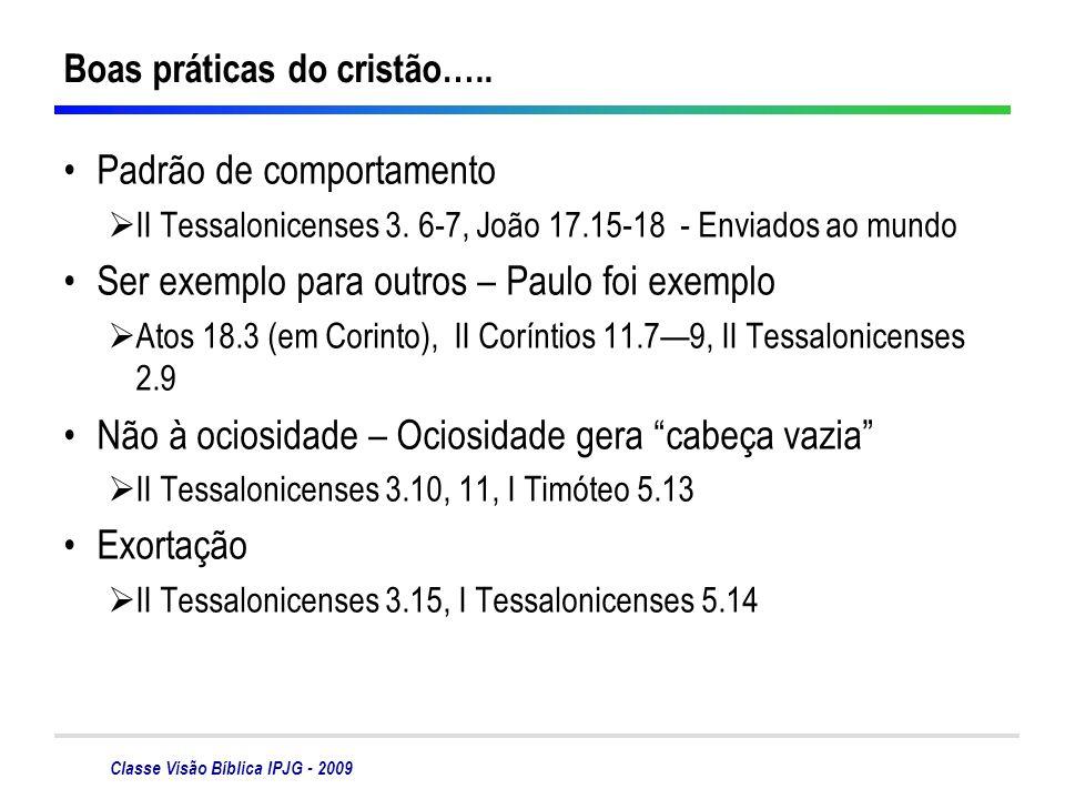 Boas práticas do cristão…..