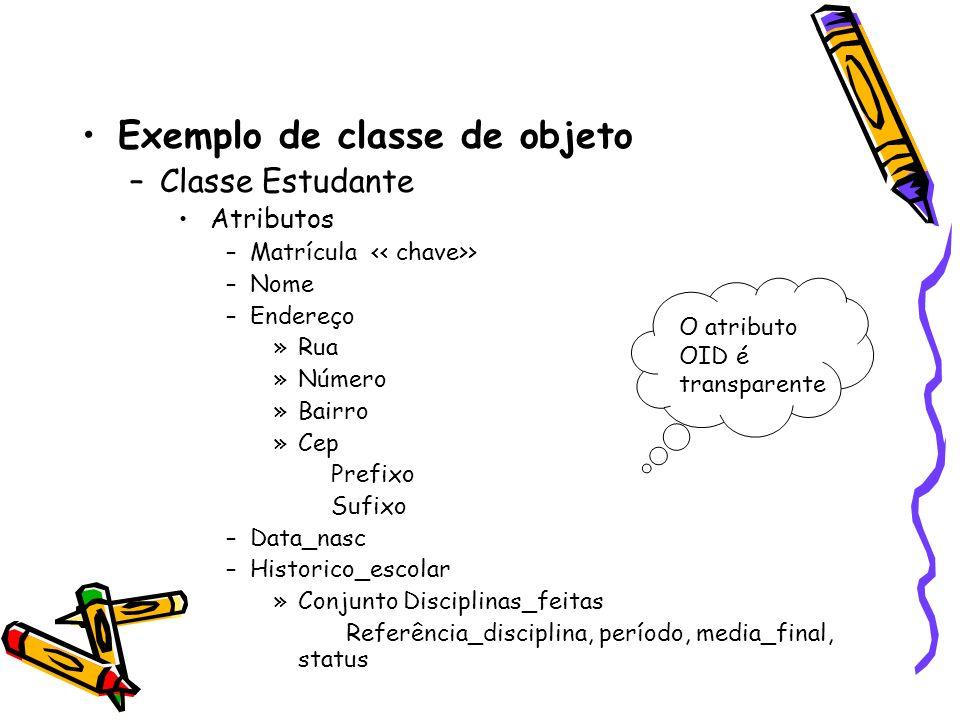 Exemplo de classe de objeto