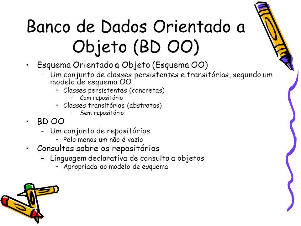 Banco de Dados Orientado a Objeto (BD OO)