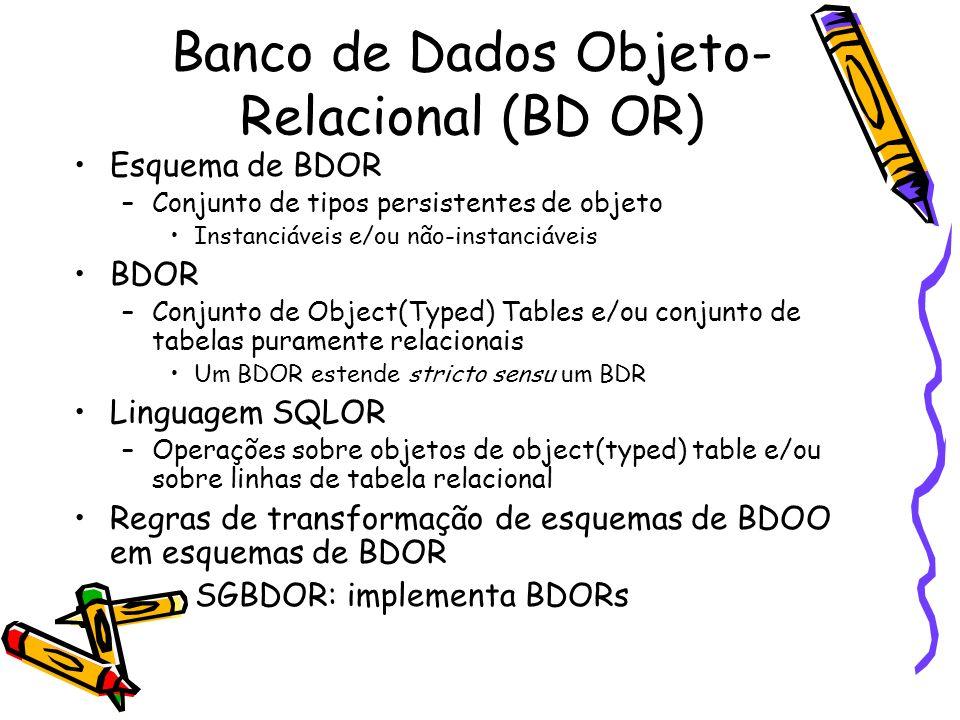 Banco de Dados Objeto-Relacional (BD OR)