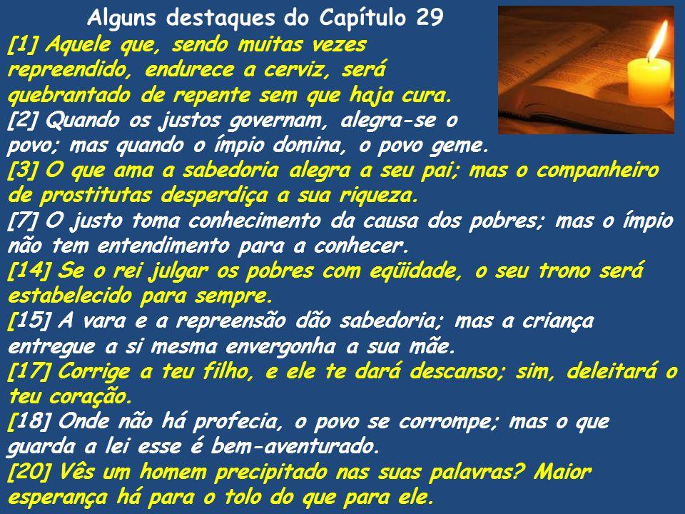 Alguns destaques do Capítulo 29