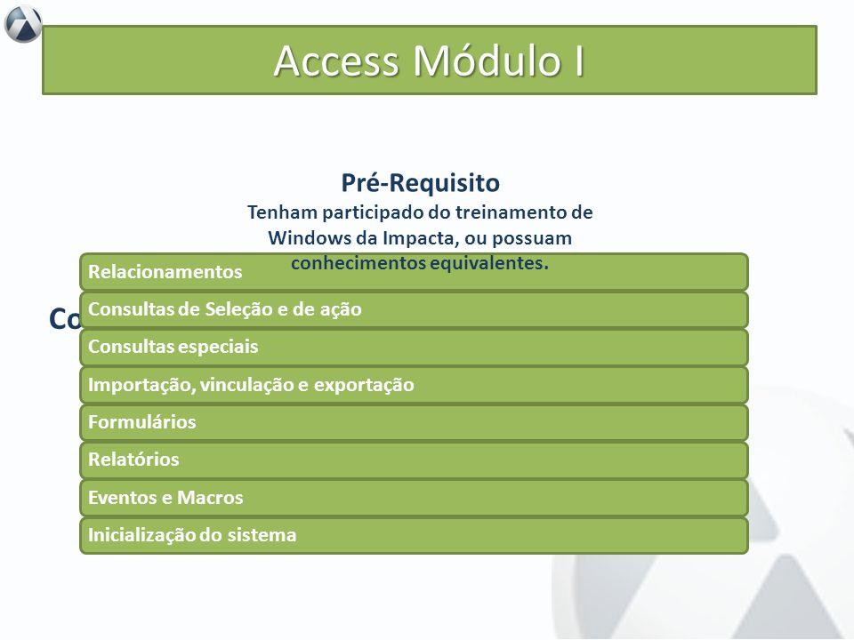 Access Módulo I Conteúdo Pré-Requisito Objetivo