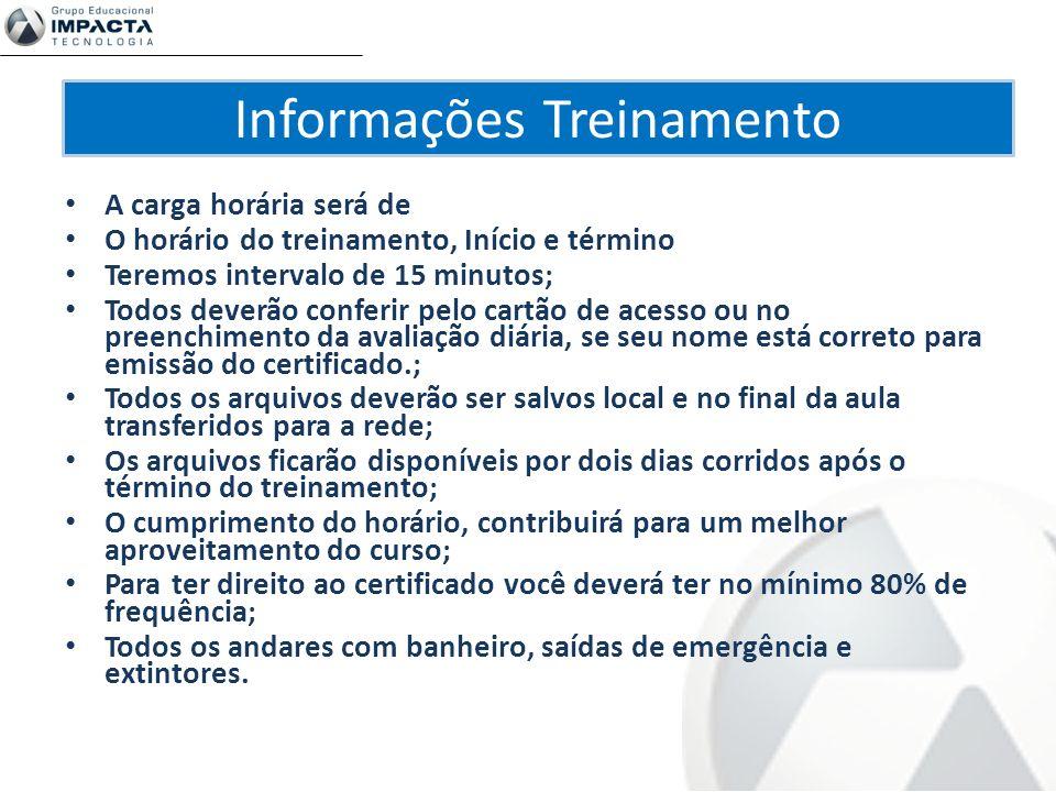 Informações Treinamento