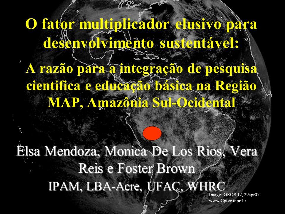 O fator multiplicador elusivo para desenvolvimento sustentável: A razão para a integração de pesquisa cientifica e educação básica na Região MAP, Amazônia Sul-Ocidental