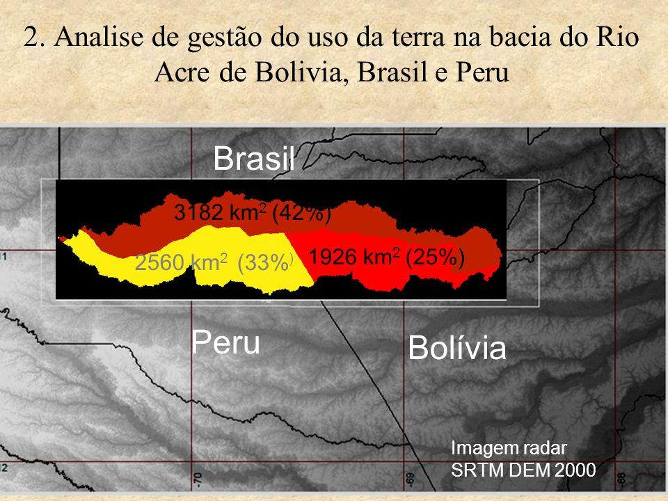 2. Analise de gestão do uso da terra na bacia do Rio Acre de Bolivia, Brasil e Peru