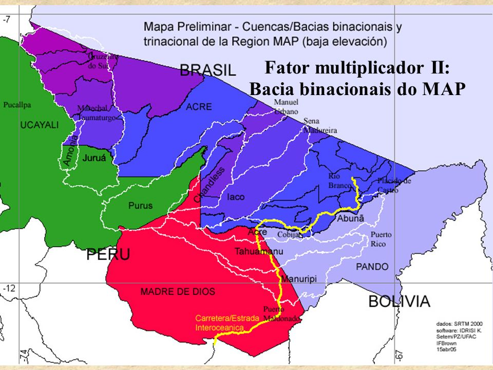 Fator multiplicador II: Bacia binacionais do MAP