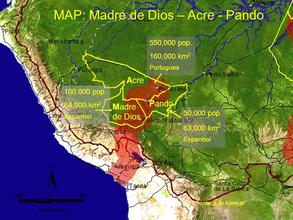 MAP: Madre de Dios – Acre - Pando