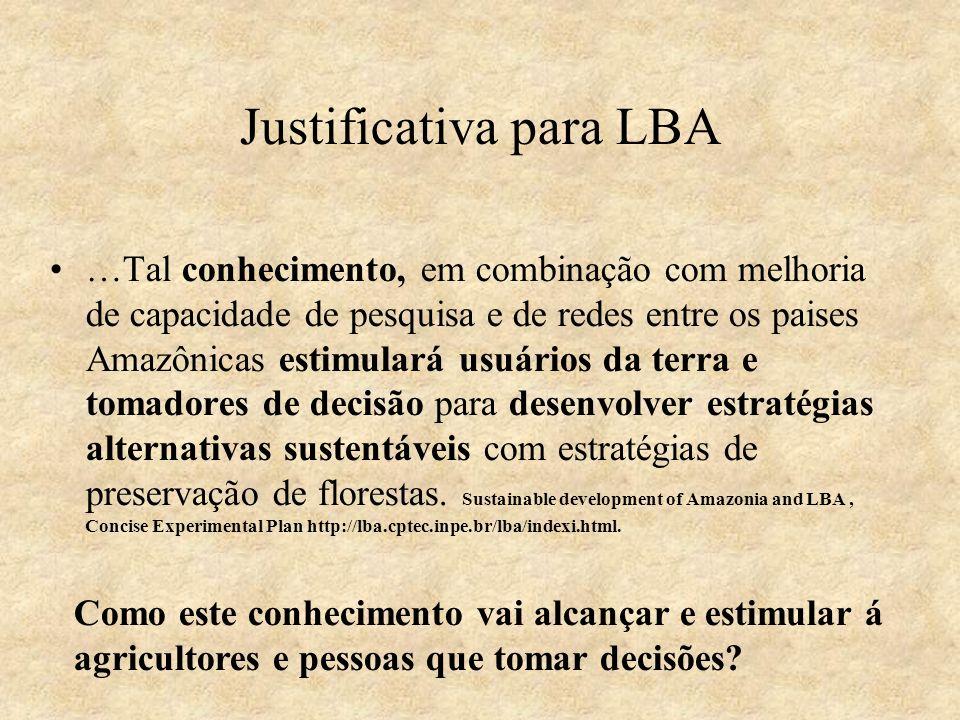 Justificativa para LBA