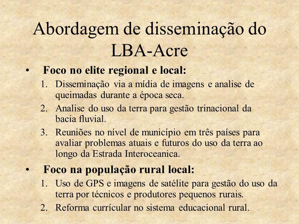 Abordagem de disseminação do LBA-Acre