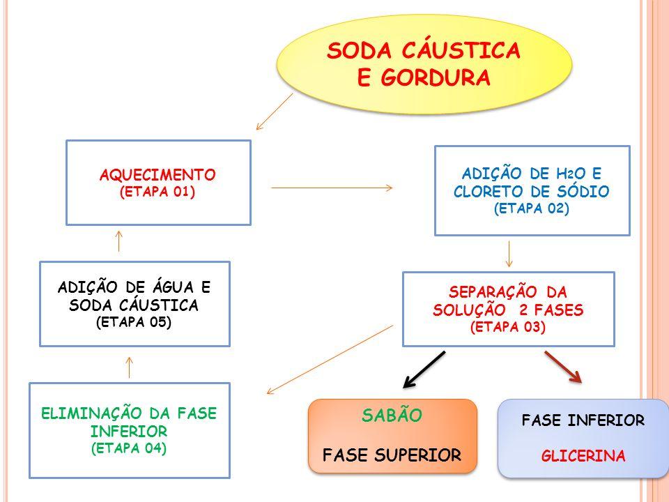 SODA CÁUSTICA E GORDURA