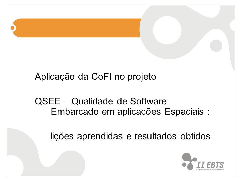 Aplicação da CoFI no projeto