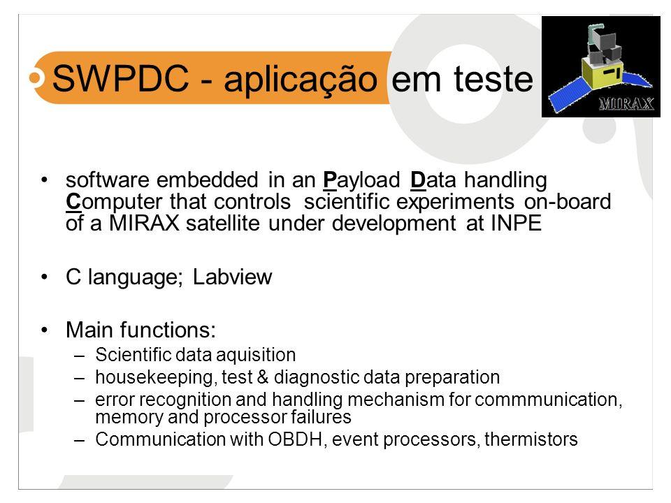 SWPDC - aplicação em teste