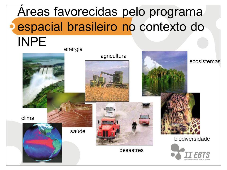 Áreas favorecidas pelo programa espacial brasileiro no contexto do INPE