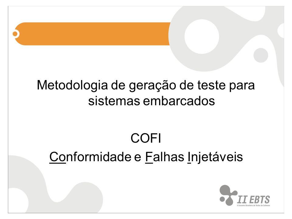 Metodologia de geração de teste para sistemas embarcados