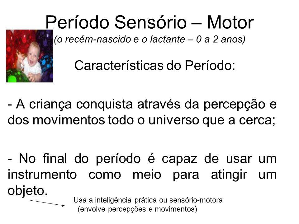 Período Sensório – Motor (o recém-nascido e o lactante – 0 a 2 anos)