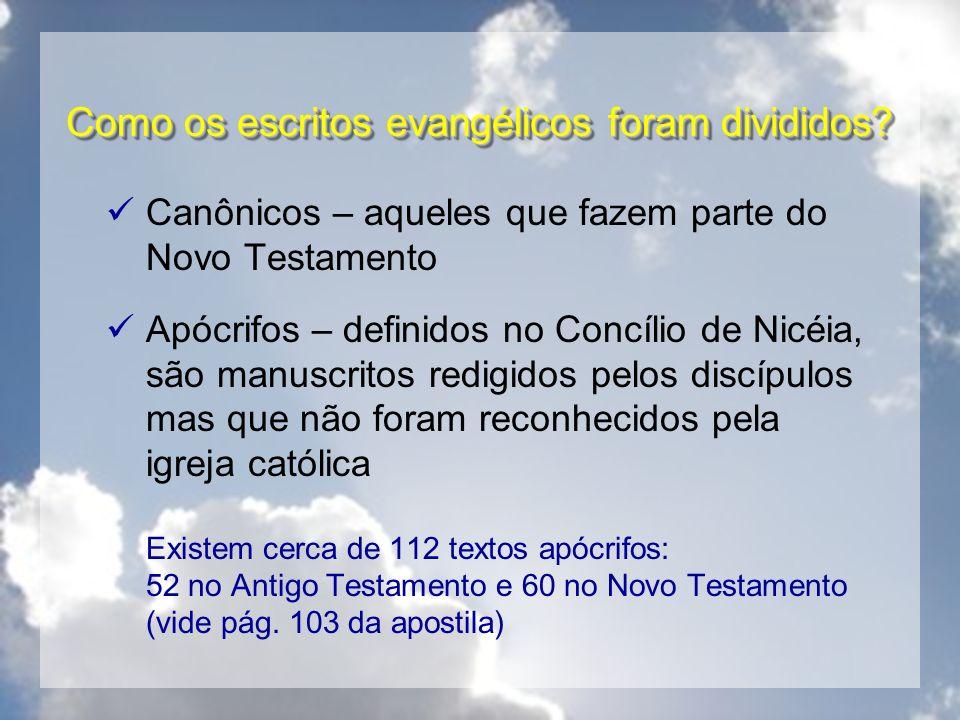 Como os escritos evangélicos foram divididos