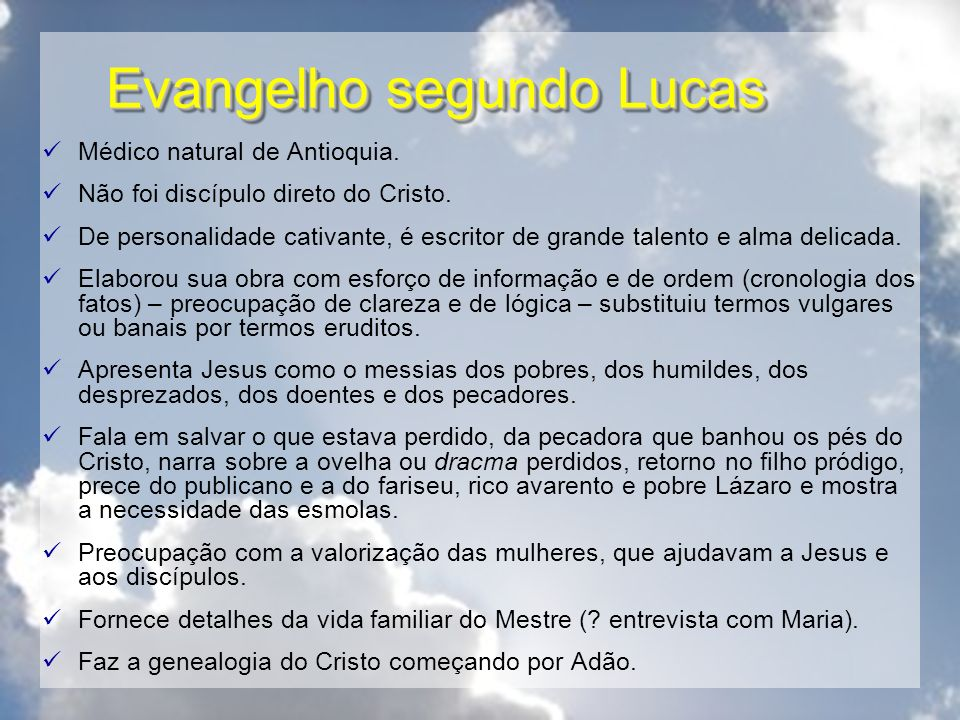 Evangelho segundo Lucas