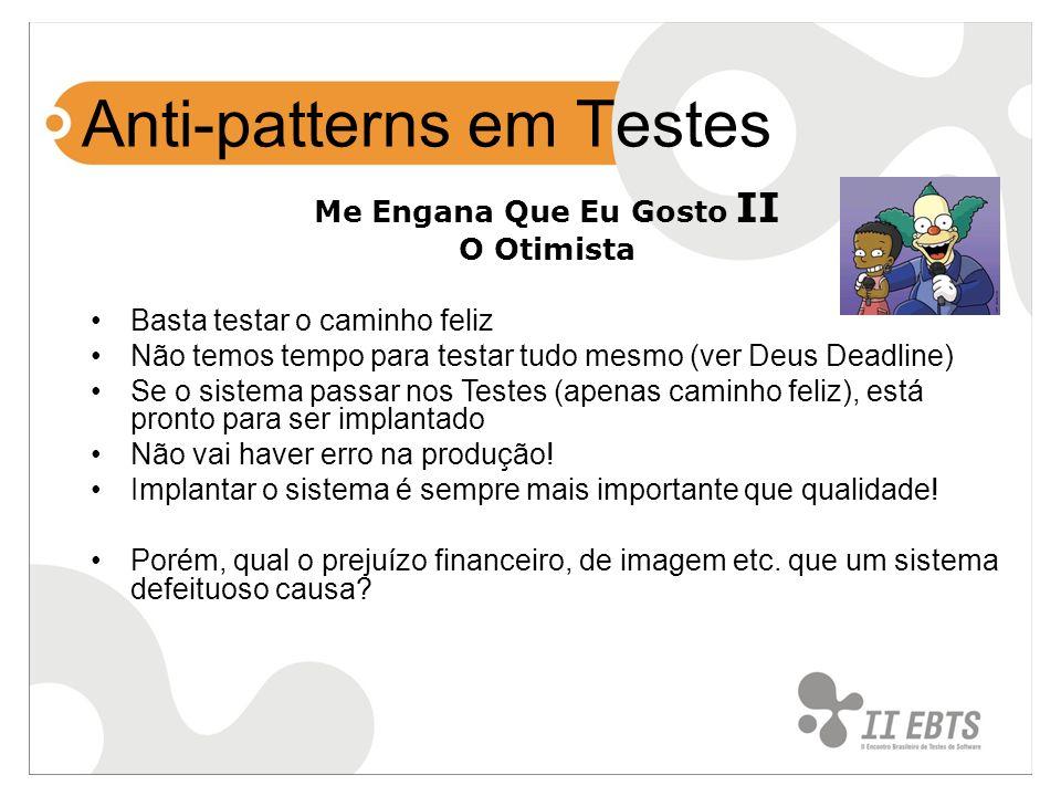 Anti-patterns em Testes