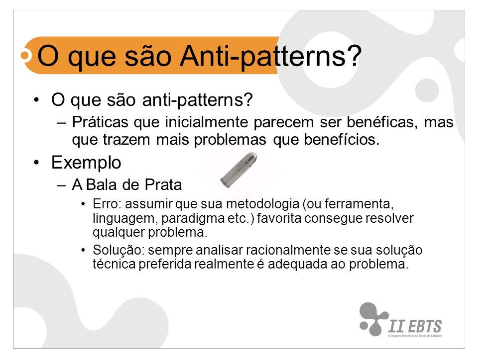 O que são Anti-patterns