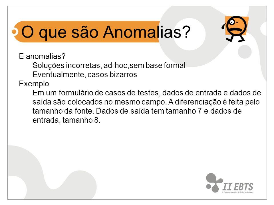 O que são Anomalias E anomalias