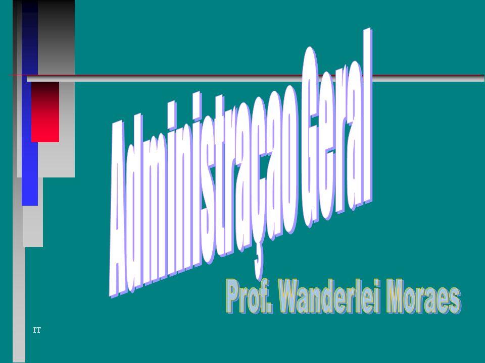 Administraçao Geral Prof. Wanderlei Moraes