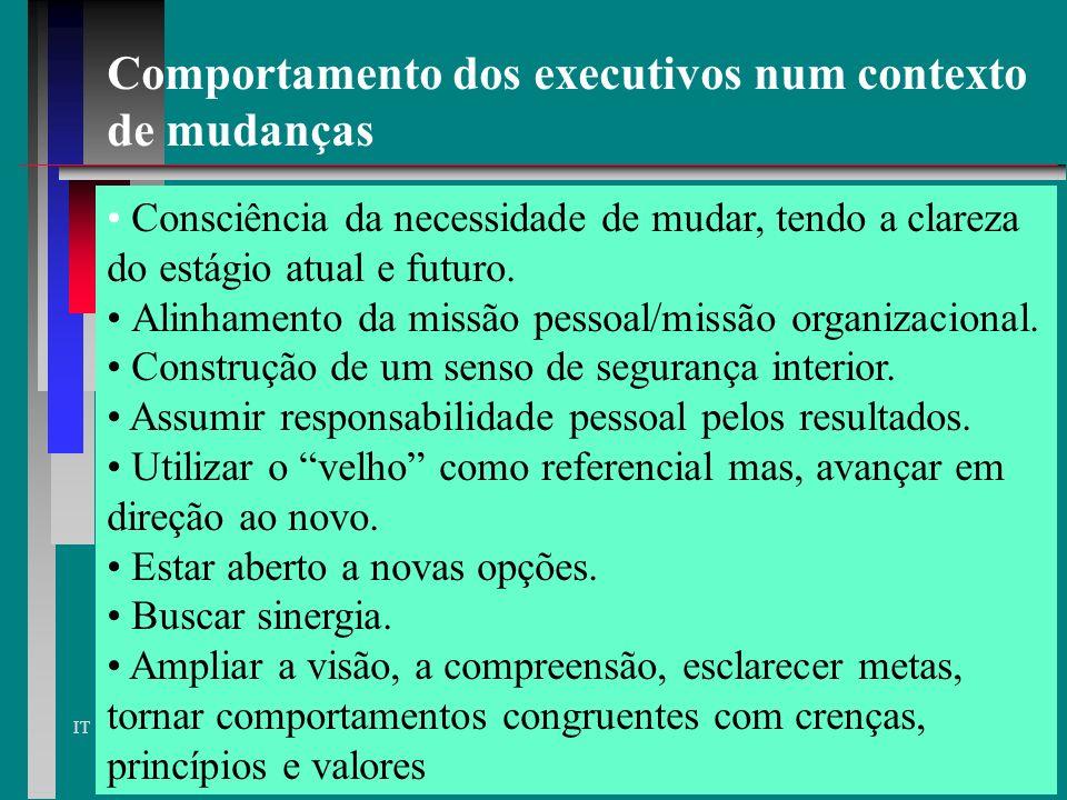 Comportamento dos executivos num contexto de mudanças