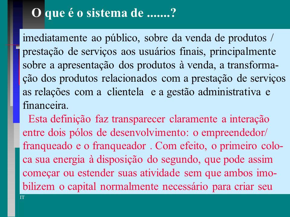 O que é o sistema de ....... imediatamente ao público, sobre da venda de produtos / prestação de serviços aos usuários finais, principalmente.
