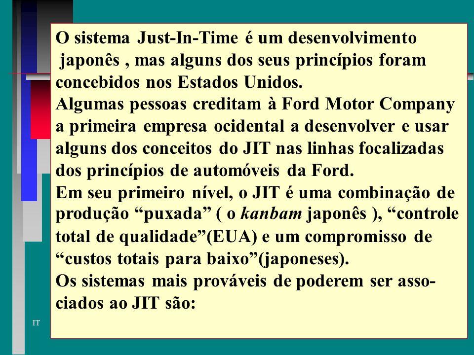 O sistema Just-In-Time é um desenvolvimento
