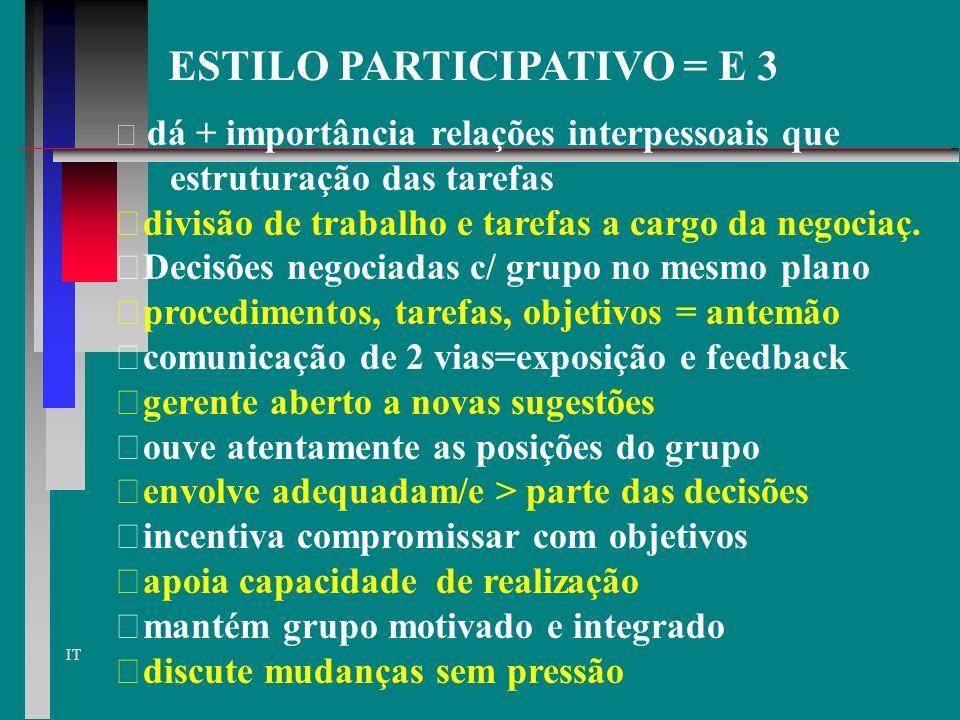 ESTILO PARTICIPATIVO = E 3