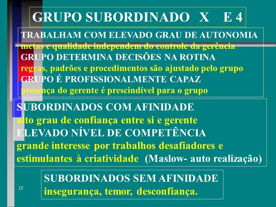 GRUPO SUBORDINADO X E 4 SUBORDINADOS COM AFINIDADE