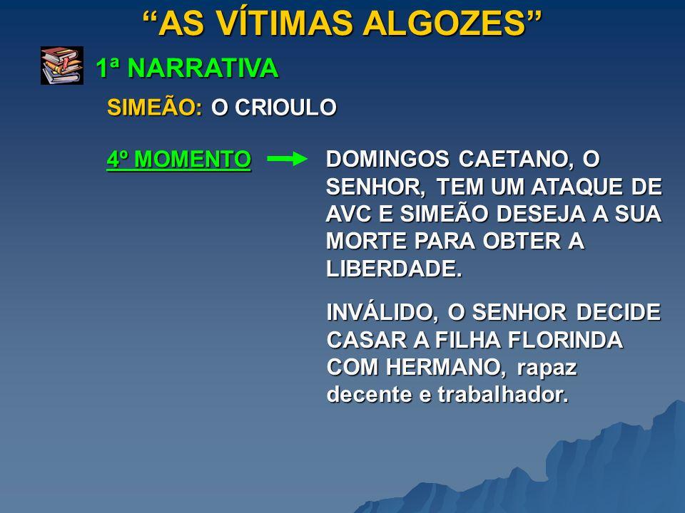 AS VÍTIMAS ALGOZES 1ª NARRATIVA SIMEÃO: O CRIOULO 4º MOMENTO