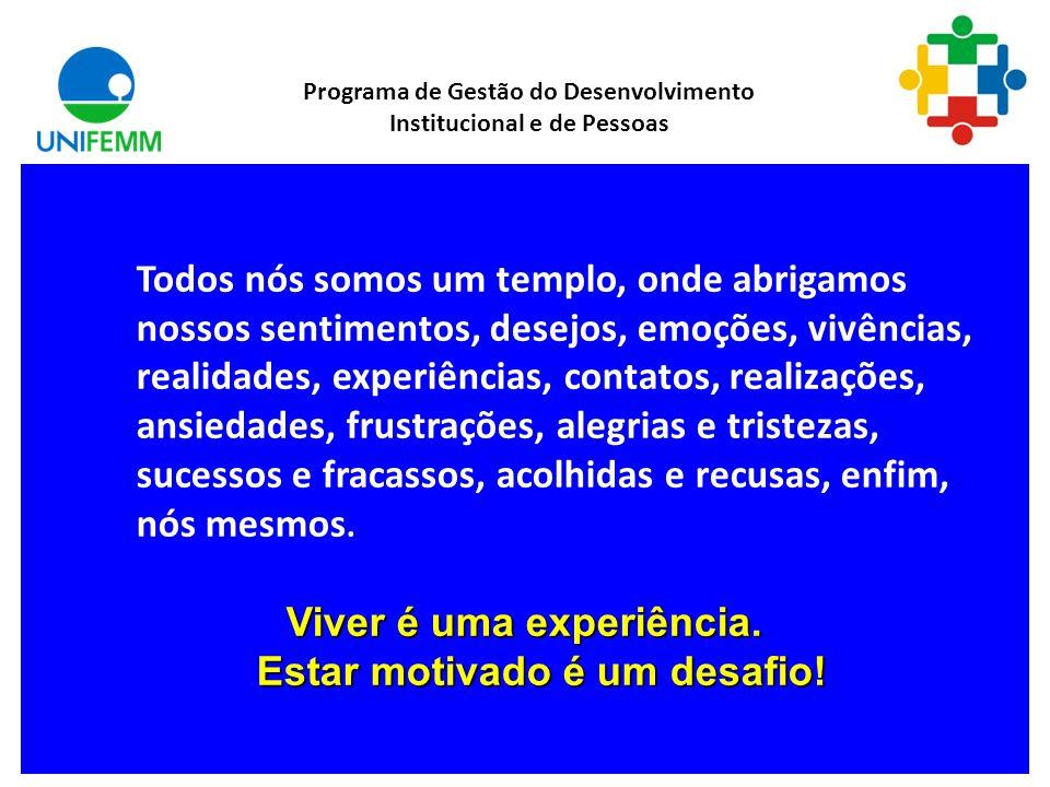 Viver é uma experiência. Estar motivado é um desafio!