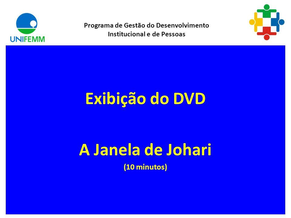 Exibição do DVD A Janela de Johari (10 minutos)