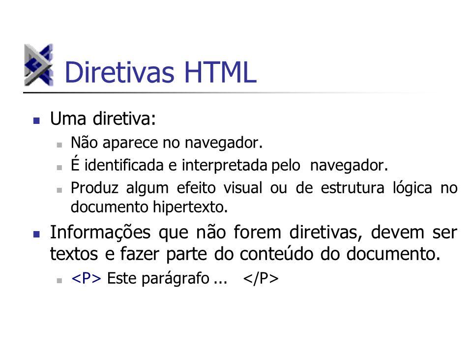 Diretivas HTML Uma diretiva: