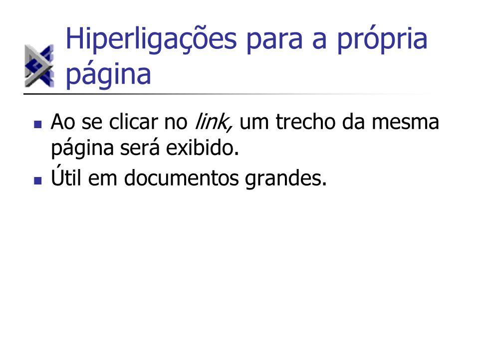 Hiperligações para a própria página