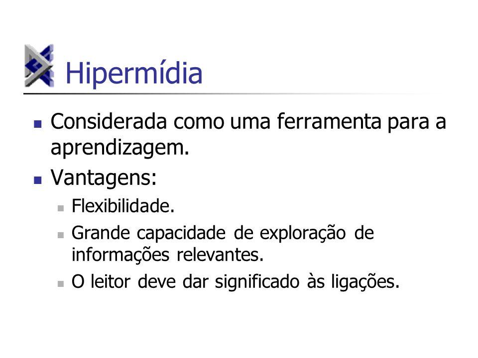 Hipermídia Considerada como uma ferramenta para a aprendizagem.