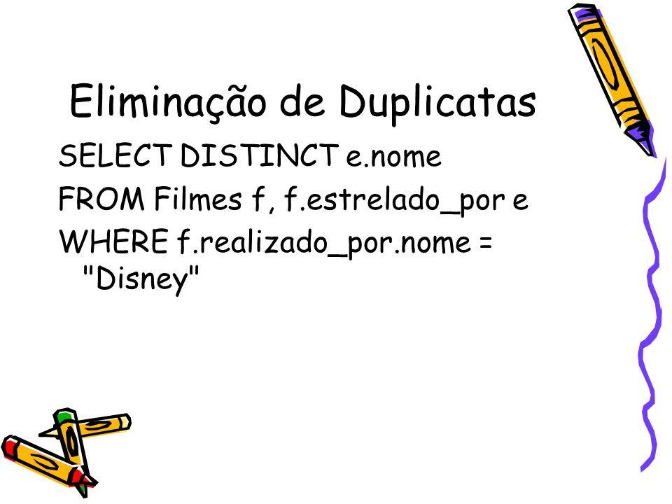 Eliminação de Duplicatas