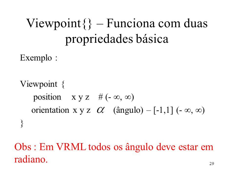 Viewpoint{} – Funciona com duas propriedades básica