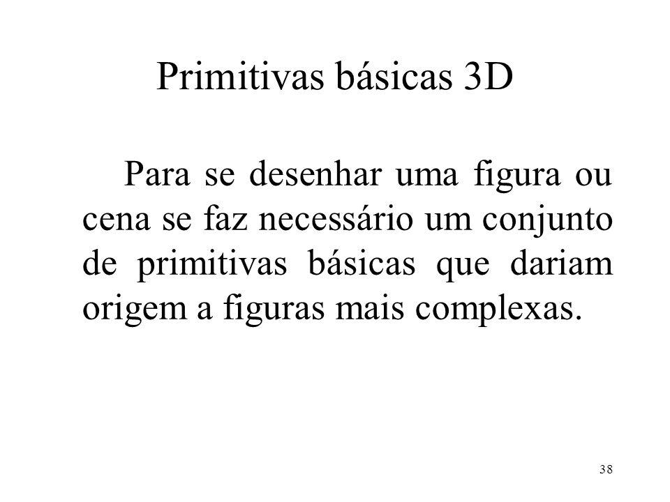 Primitivas básicas 3D