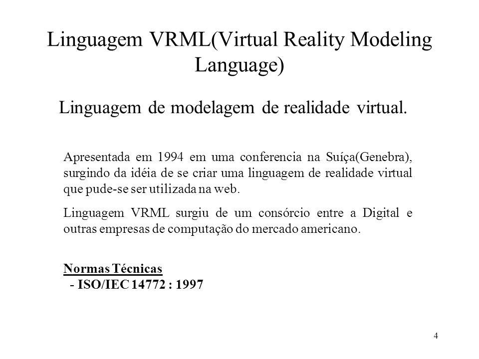 Linguagem VRML(Virtual Reality Modeling Language)
