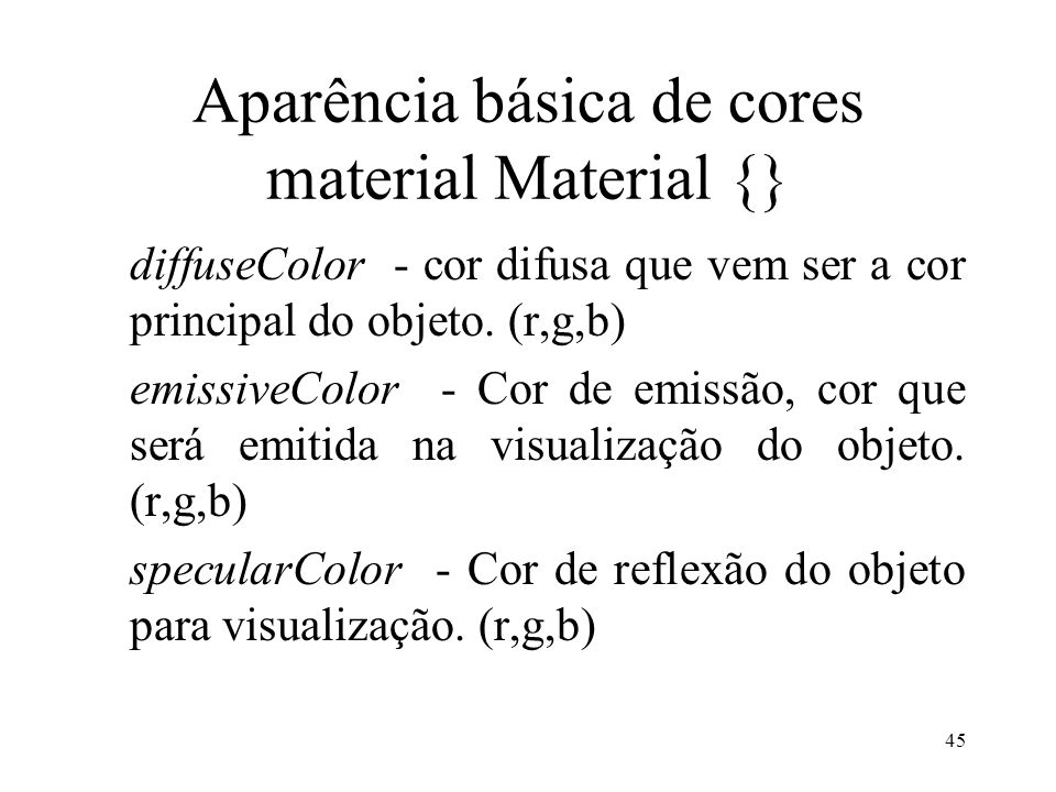 Aparência básica de cores material Material {}