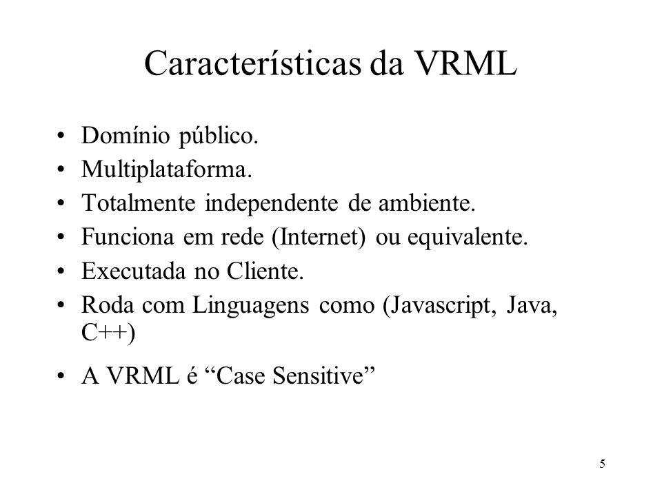 Características da VRML