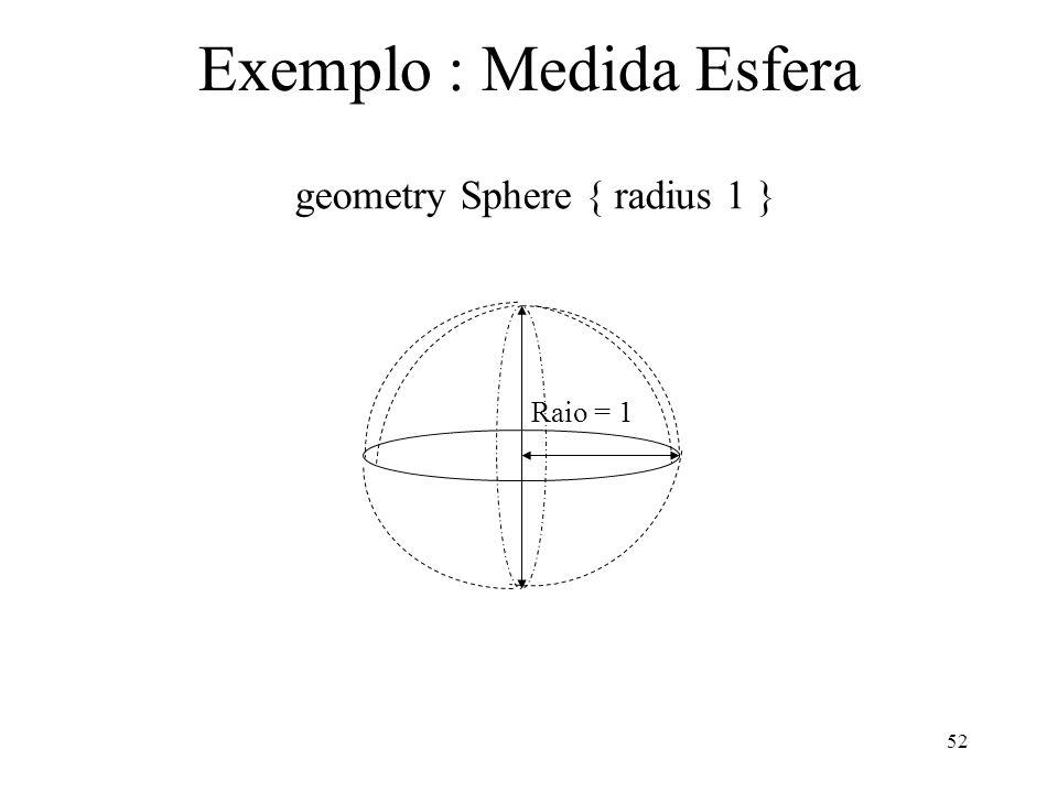 Exemplo : Medida Esfera