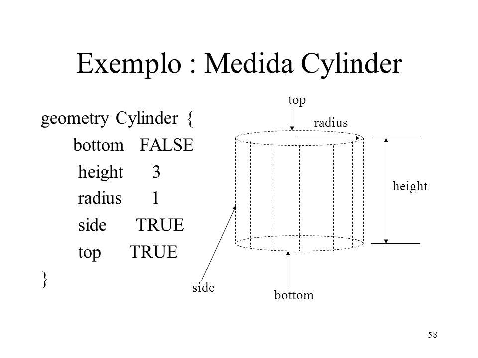 Exemplo : Medida Cylinder
