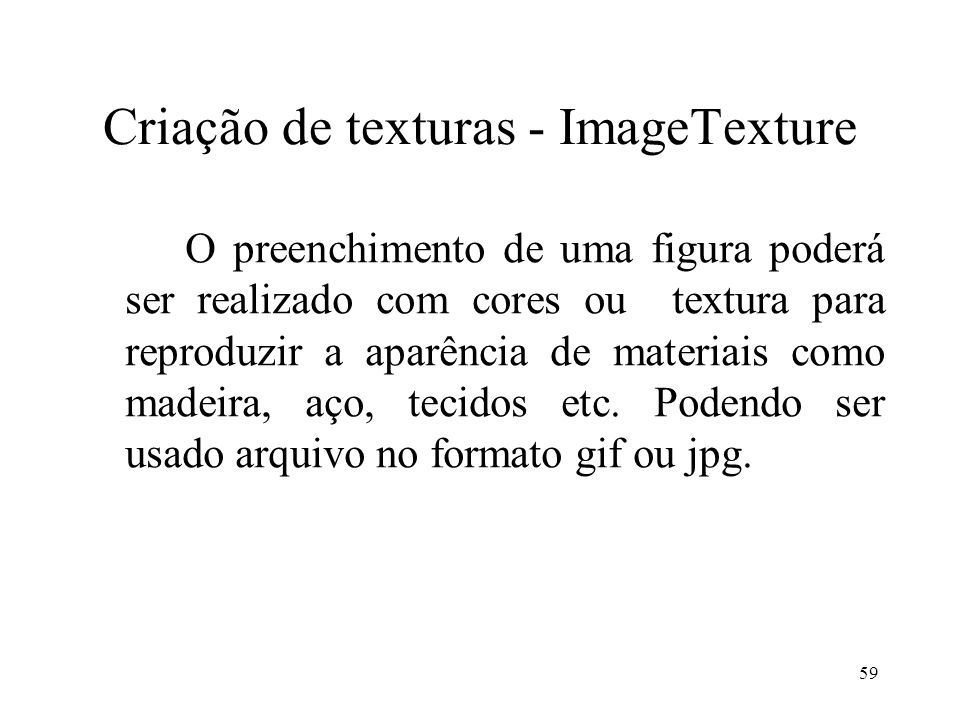 Criação de texturas - ImageTexture