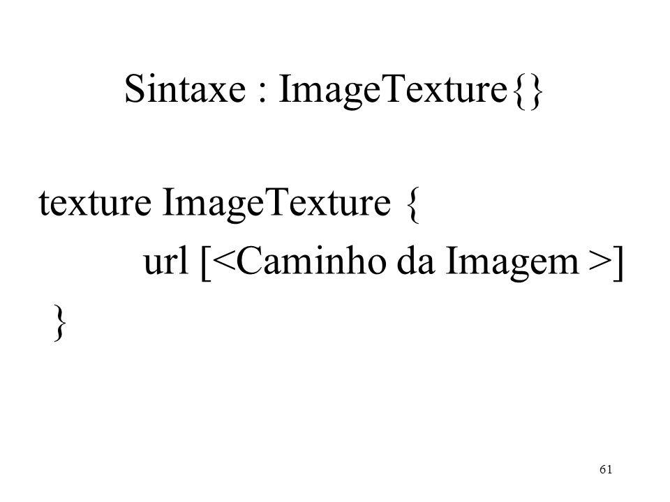 Sintaxe : ImageTexture{}